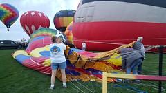 Adding air to the balloon