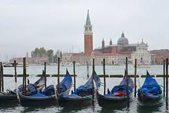 Venice and Gondolas (scuba_dooba) Tags: venice italy wet water rain boat gondola venezia veneto
