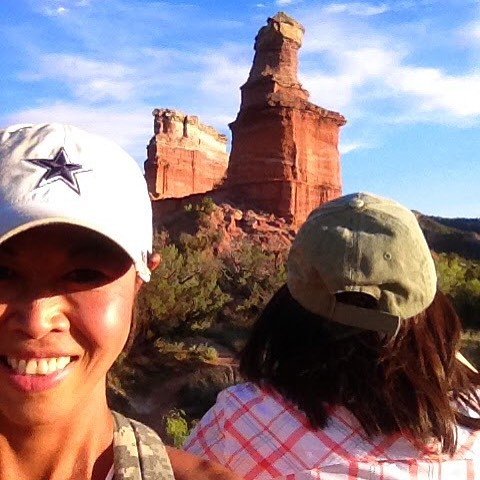 That's the light house behind me. #canyon #funinthesun #trails #hike #palodurocanyonstatepark #palodurocanyon