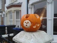 Halloween pumpkins - eating a little one (eltpics) Tags: art halloween face scary eating jackolantern pumpkins creative craft carving horror eltpics