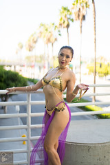 Slave Leia (Dapper Geek News) Tags: star geek cosplay chase wars vicki vicky leia slave cosplayers 2015 cosplaying comikaze