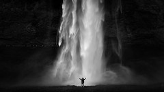 Forces Of Nature (FredConcha) Tags: bw nature landscape waterfall iceland seljalandsfoss cascata 1635 nikond800 fredconcha