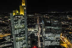 Commerzbank Tower & TaunusTurm (Fenchel & Janisch) Tags: skyscraper skyscrapers frankfurt commerzbank commerzbanktower frankfurtatnight
