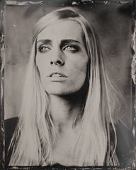 laura (Vincent Paulic) Tags: portrait retro tintype 4x5 linhof ferrotype largeformat humide collodion