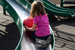 A Day at the Park (Vegan Butterfly) Tags: park people cute playground ball outside outdoors kid vegan edmonton child adorable slide