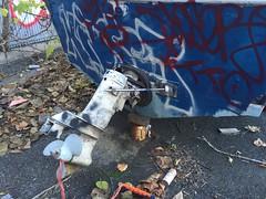 IMG_5482 (Hypurban) Tags: nyc newyork abandoned brooklyn graffiti head warehouse wax smells abandonedwarehouse brooklyngraffiti waxhead graffitiyard cash4