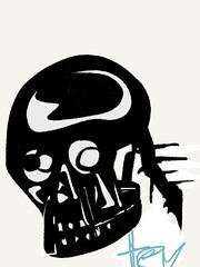 Swoosh tick sponsored skeleton (Tevinshus) Tags: nike skull art 17 london tev