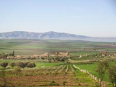 Mountain vista with distant view of Roman ruins, Volubilis, Morocco (Paul McClure DC) Tags: morocco almaghrib fèsmeknèsregion volubilis jan2017 roman architecture historic scenery