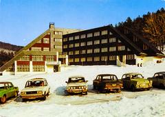 Germany - Holzhau - 1990 - front (Ye-Di) Tags: 90s 1990 postcard ansichtskarte germany deutschland gdr ddr saxony sachsen holzhau trabant 601 lada 1200 vaz 2101 nova 2015 škdoa 100 socialism communism winter snow