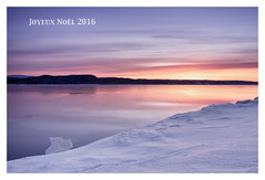 Joyeux Noël 2016 (gaudreaultnormand) Tags: canada feliznavidad happychristmas joyeuxnoël pastels quebec saguenayriver sunrise glace ice paysage