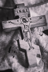 Do you know who loves you immensely (Cocodix) Tags: cocodix isus macromondays 357 crucifixion canon christmas monday blackwhite blackandwhite ljubi macro ortodox song znas inspired hrist black cross jesus cocolino silno efs60mm