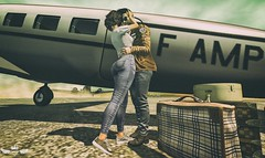 Take My Breathe Away ♪♫ (Murilo Tempest) Tags: noedition hoorenbeek jacket man men pose couplepose couple airport airplane plane