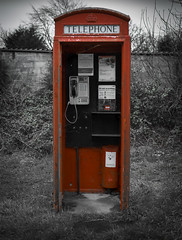 The last call... (Rep001) Tags: call boxes phone telephone box red uk door missing