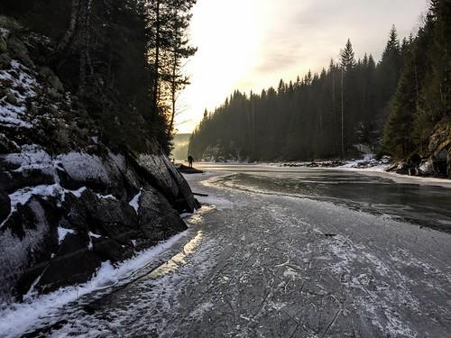 Mørkanga mellom Fløyta og Røyrivannet