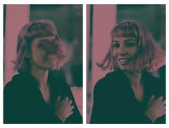 pink (helix.pomatia) Tags: colors colorful portrait portraits portraiture lights light streetlight street house girl friend friends nikon d3100 digital 50mm persone red girls pink biennale art arte venice venezia october autumn