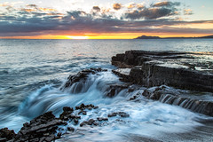 Streaming Sunset Honolulu (The Charliecam) Tags: oahu pacific hawaii island canon6d ocean outdoor adventure travel water sunset long exposure 24105l waves