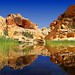 Calico Tank Reflections (Rita Eberle-Wessner) Tags: rocks felsen landschaft landscape tank water reflection teich spiegelung wasser redrockcanyon nevada usa mojave
