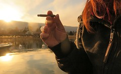 No qualities (nathaliedunaigre) Tags: selfportrait autoportrait femme woman ginger redhair cigarillo