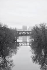 Foggy Three Rivers Heritage Trail Bridge (nick.amoscato) Tags: pittsburgh morning fog allegheny river bridge water reflection