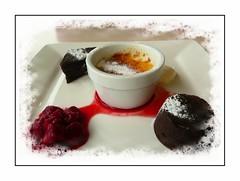 Afternoon delight (Audrey A Jackson) Tags: panasonicdmctz3 westwardho devon dessert pierhouserestuarant delicious cremecaramelle 1001nightsmagiccity