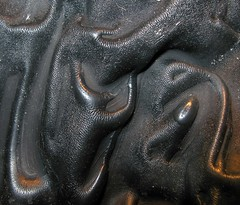 Texture In Black (Sea Moon) Tags: latex liquid layer balloon black rubber puckered wrinkles macro abstract abstraction