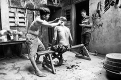 Home Haircut (bryanshoots) Tags: montalban panasonic lumix lx7 philippines street streetphotography monochrome blackandwhite haircut