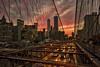 """We who live under heaven... (gimmeocean) Tags: nyc newyorkcity sunset ny newyork traffic manhattan brooklynbridge photowalk freedomtower 1wtc treyusa"