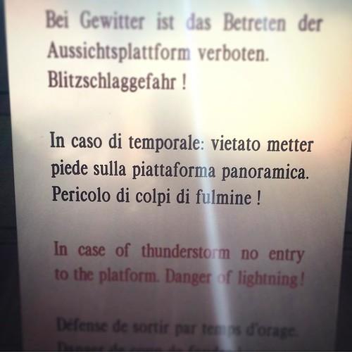 Pericolo colpi di fulmine! #blitzschlaggerfahr 😍⚡️
