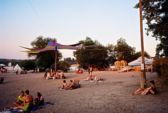 Sziget Beach (Pietro Bakke) Tags: camera party people holiday film festival out relax fun iso200 holidays hungary pentax kodak films budapest atmosphere happiness rangefinder august iso agosto 200 electronic sziget chill danube vacanza 90s vacanze compact ungheria divertimento 2015 felicit espio compac 738 obuda kodk rullino rullini