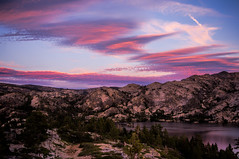 Sierra Sunset (maberto) Tags: california camping sunset lake landscapes pentax sierra granite sierranevada ©bradmaberto