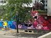 Graff in Grenoble - Birdy Kids + The Sheepest (brigraff) Tags: streetart pasteup pastedpaper collage grenoble painting sheep spray panasonic aerosol mouton papiercollé sprayart thesheepest tz60 panasonictz60 brigraff birdykids