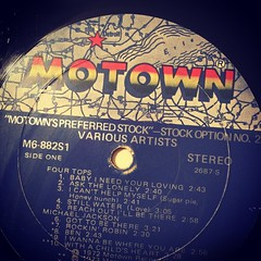 Motown find (danbruell) Tags: blue music history label famous performance fame vinyl player lp record michaeljackson groove standards 45s legacy rpm musicology 3313 motown fourtops barrygordy 33s rockinrobbin