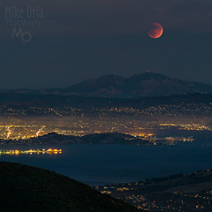 Sunday, Blood Moon Sunday (mikeSF_) Tags: california county city red sky moon night stars landscape eclipse blood 645 pentax marin super astro mount astrophotography tamalpais mtdiablo lunar bloodmoon m300 645d supermoon pentax645d mikeoria wwwmikeoriacom