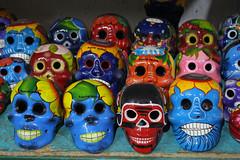 Smiling Faces (skipmoore) Tags: smile ceramic skulls muerto puertonuevo