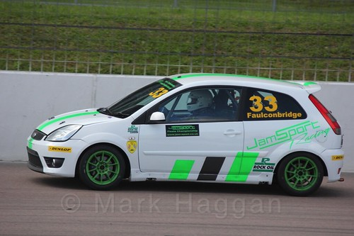 Mark Faulconbridge in Fiesta Racing at Rockingham, Sept 2015