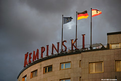 Kempinski (Red Cathedral uses albums) Tags: streetart berlin architecture germany deutschland hotel europe flag sony streetphotography alpha mitte kurfrstendamm redcathedral kempinski a850 eventcoverage sonyalpha aztektv