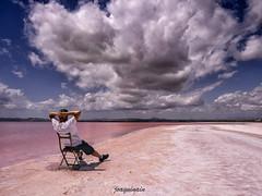 Saltlake selfie (joaquinain) Tags: clouds olympus nubes zuiko omd selfie em1