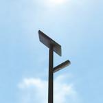 LEDソーラーリチウムイオン街路灯の写真