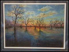 Painting of Lake Menindee with water= (Sheba_Also 11,000,000 + Views) Tags: lake water painting with menindee
