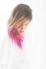 Angel (rehphoto.com) Tags: barcelona pink portrait white color blanco girl face female angel hair studio mujer model chica dress retrato young rosa indoor shy modelo vestido femenino timida 2015 rehphotocom