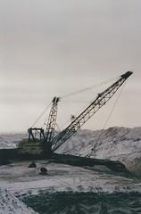 Draglines (smokey pipes) Tags: canada saskatchewan coal stripmining opencast dragline walkingdragline