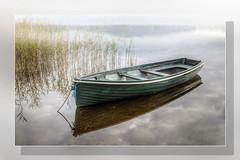 Boat Reflection Loch Ard (Bill McKenzie / bmphoto) Tags: cloud reflections boat best loch sedge lochard kinlochard