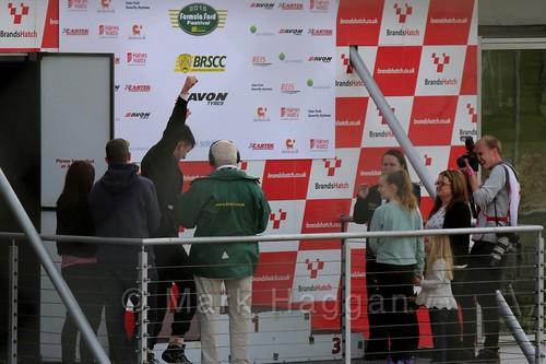 Aaron Thompson on the Fiesta Junior Championship, Brands Hatch, 2015