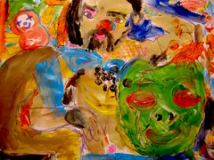 Saint Martin's Summer (giveawayboy) Tags: november man green art pen painting tampa beard sketch paint artist acrylic mask drawing folk marker torso sharpie crayon rosella indiansummer cdc fch giveawayboy november11 billrogers martinmas saintmartinsday saintmartinssummer folkhorror