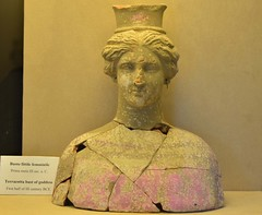 (orientalizing) Tags: italy ceramic terracotta goddess bust sicily sanctuary archaeologicalmuseum hellenistic pinkpaint aidone morgantina archaia thirdcenturybc cultmaterial