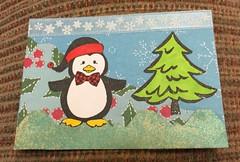 Penguin Christmas ATC (stashheap) Tags: christmas atc penguin swapbot