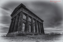 Penshaw (Lee Summerson) Tags: uk england blackandwhite white black monochrome clouds photoshop canon landscape photography grey mono washington olympus structure mount hdr sunderland hoya penshaw penshawmonument northeastengland ndx400 eos7d tokina1116mm hoyandx400 canonuk northeastenglandlandscape