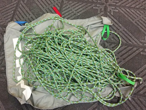 Beal 10mm 60m Yuji Dynamic Single Rope for indoor use arrived today and first outing at the lead wall at ROF 59.