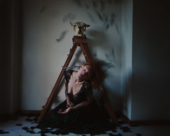 """Breathe out"" (Adi Korndörfer) Tags: fineart fujifilm conceptual selfportrait surreal anxiety art artistic"