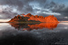 Vestrahorn (Marco Calandra Photography) Tags: reflection clouds iceland mountain red reflect sunset vestrahorn islanda is lagoon trip journey